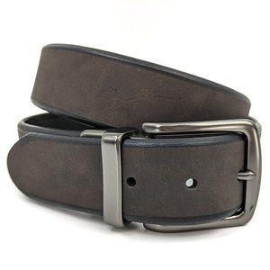 COLUMBIA Bolivar Reversible Br/Blk Leather Belt 34